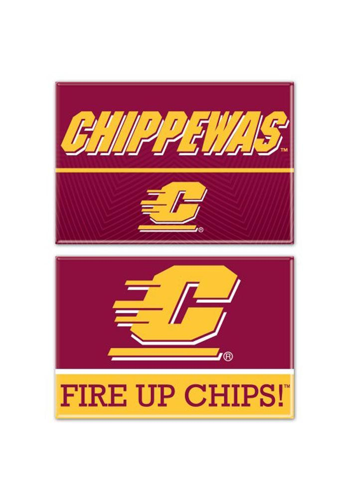 Central Michigan Chippewas 2pk Rectangle Magnet - Image 2