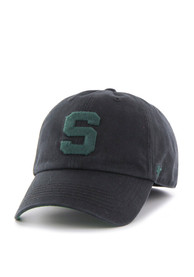 Michigan State Spartans '47 Black `47 Franchise Fitted Hat