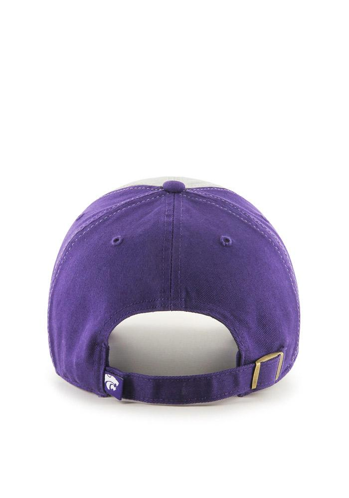 '47 K-State Wildcats Mens Purple Clean Up Adjustable Hat - Image 3