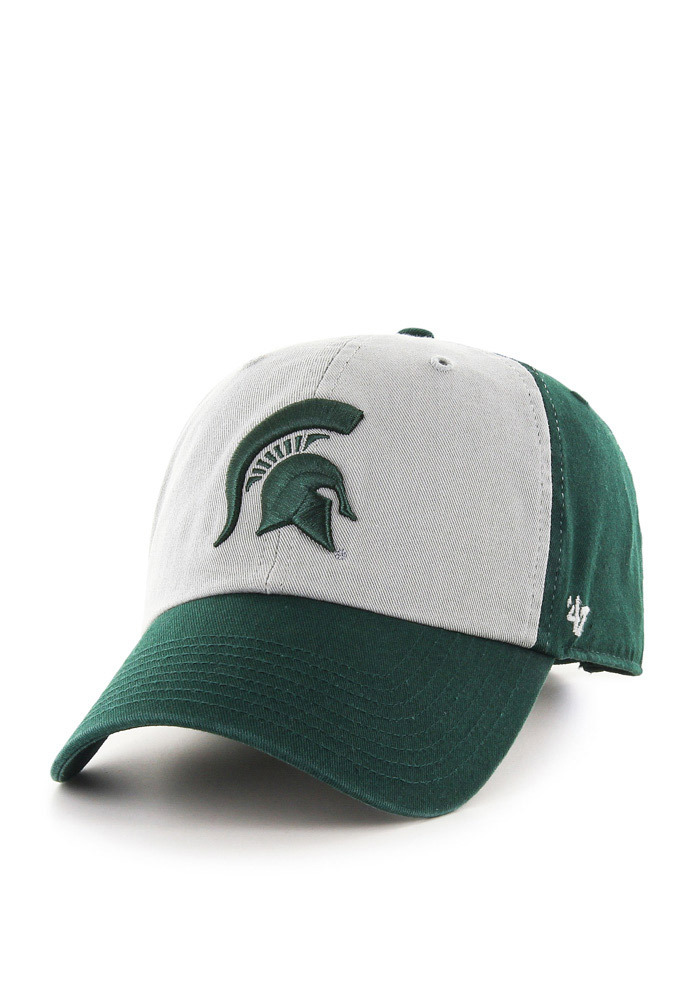 47 Michigan State Spartans Clean Up Adjustable Hat - Green - Image 1