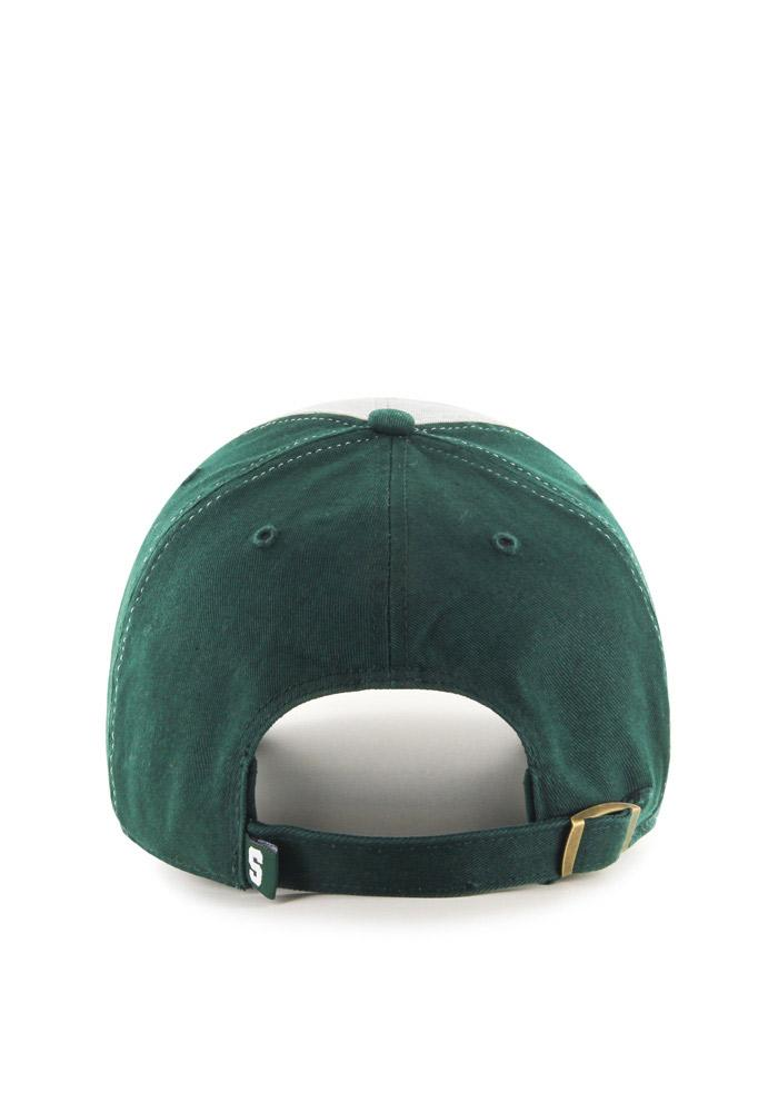 47 Michigan State Spartans Clean Up Adjustable Hat - Green - Image 2