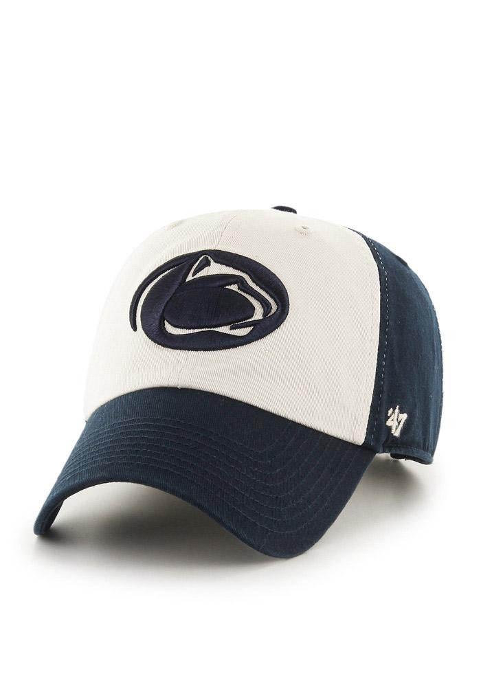 '47 Penn State Nittany Lions Mens Blue Clean Up Adjustable Hat - Image 1