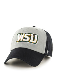 Wright State Raiders 47 Clean Up Adjustable Hat - Black