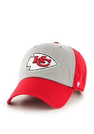 '47 Kansas City Chiefs Mens Red Clean Up Adjustable Hat