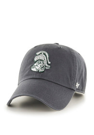 47 Michigan State Spartans Clean Up Adjustable Hat - Charcoal