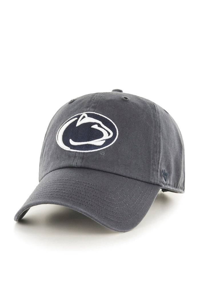 47 Penn State Nittany Lions Clean Up Adjustable Hat - Charcoal