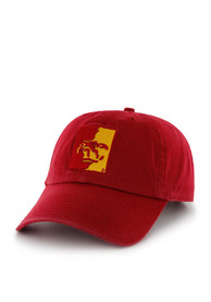 2e234f8965796  47 Pitt State Gorillas Red Clean Up Adjustable Hat