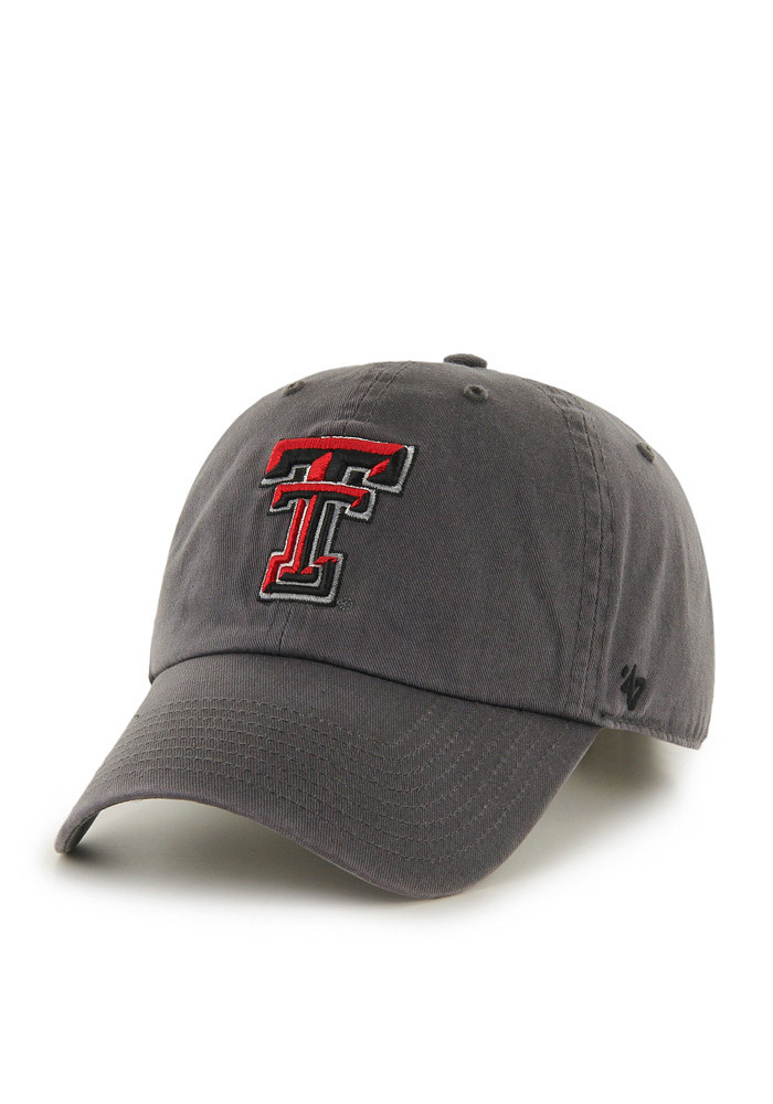 '47 Texas Tech Red Raiders Mens Grey Clean Up Adjustable Hat - Image 1