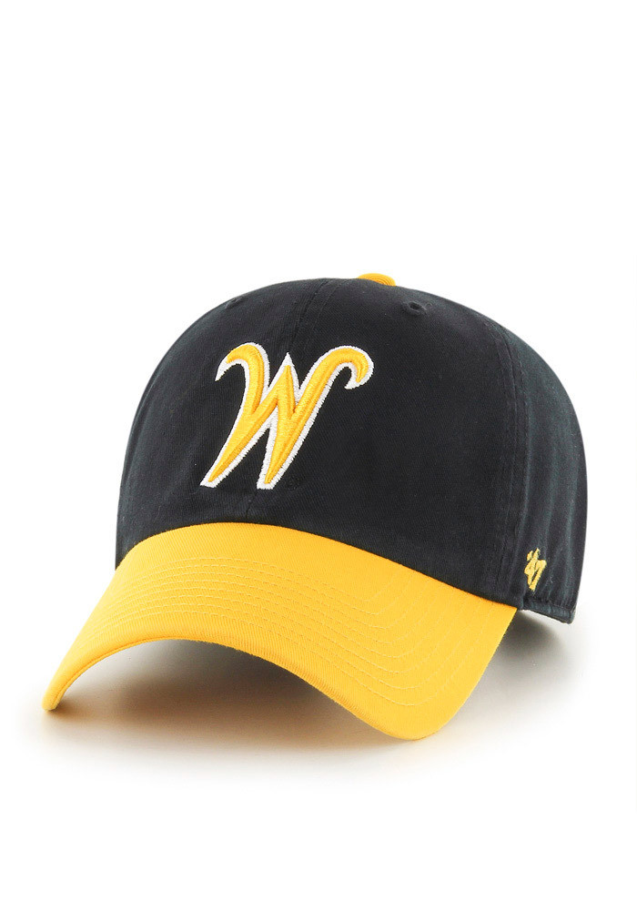'47 Wichita State Shockers Mens Black Clean Up Adjustable Hat - Image 1