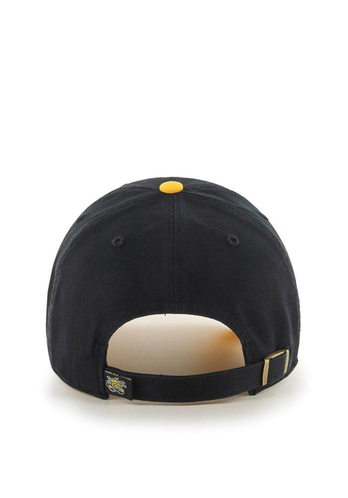 '47 Wichita State Shockers Mens Black Clean Up Adjustable Hat - Image 3