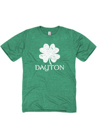 Dayton Green Splatter Shamrock Short Sleeve T Shirt