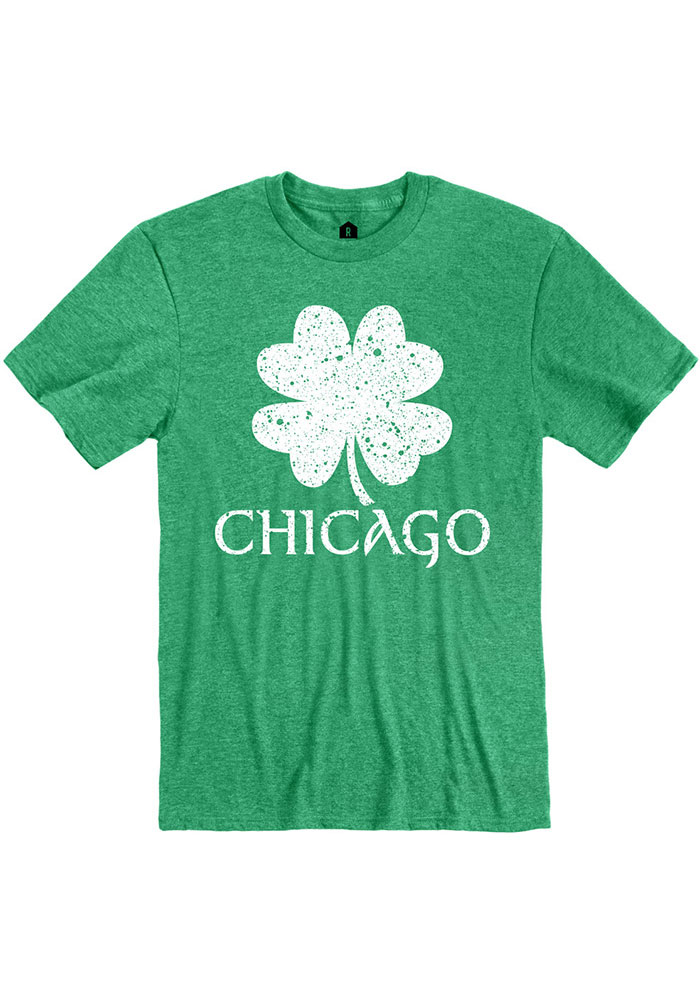 Chicago Green Splatter Shamrock Short Sleeve T Shirt - Image 1