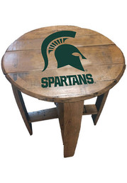 Michigan State Spartans Team Logo Brown End Table