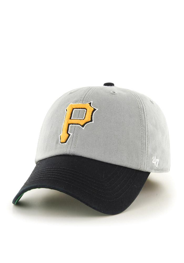 '47 Pittsburgh Pirates Mens Grey `47 Franchise Fitted Hat - Image 1