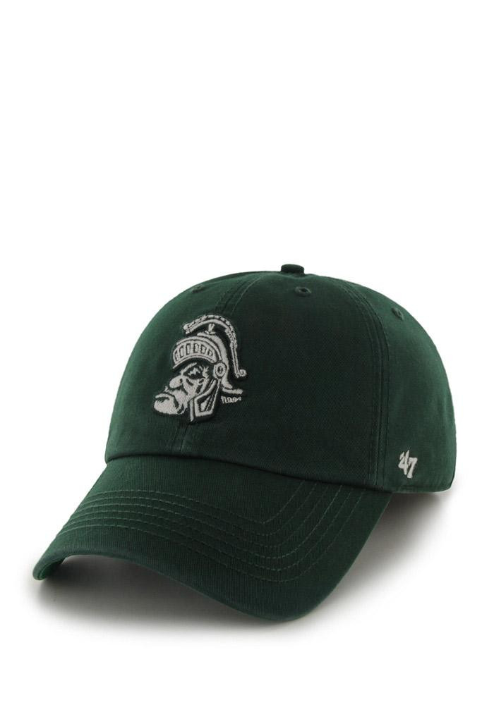'47 Michigan State Spartans Mens Green Retro `47 Franchise Fitted Hat - Image 2