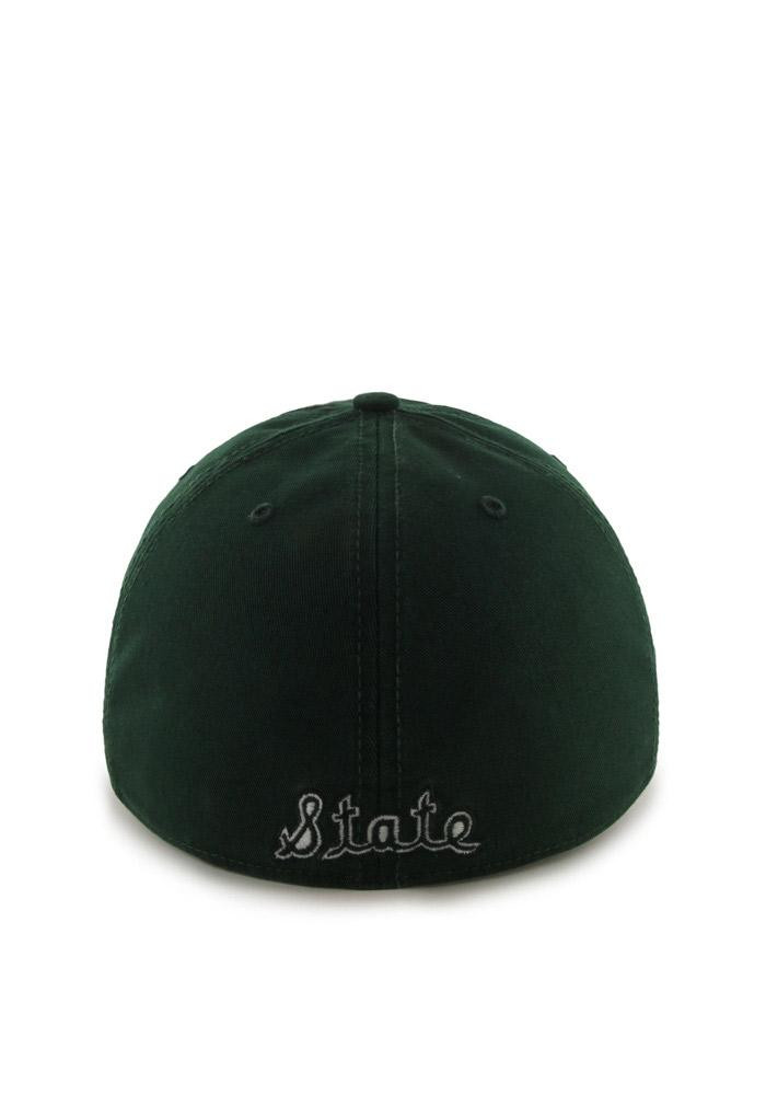 '47 Michigan State Spartans Mens Green Retro `47 Franchise Fitted Hat - Image 3