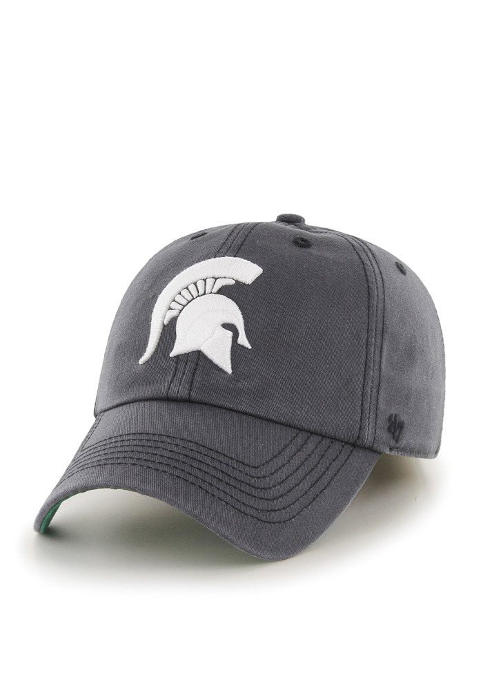 47 Michigan State Spartans Mens Charcoal `47 Franchise Fitted Hat - Image 1