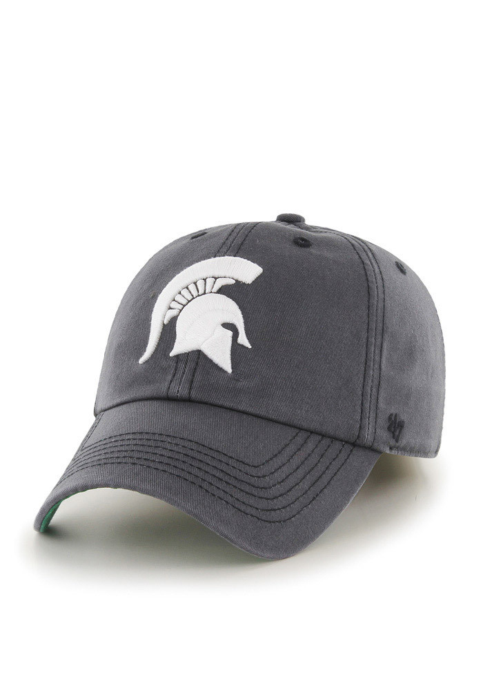 '47 Michigan State Spartans Mens Grey `47 Franchise Fitted Hat - Image 1