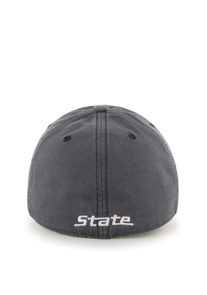 '47 Michigan State Spartans Mens Grey `47 Franchise Fitted Hat - Image 3