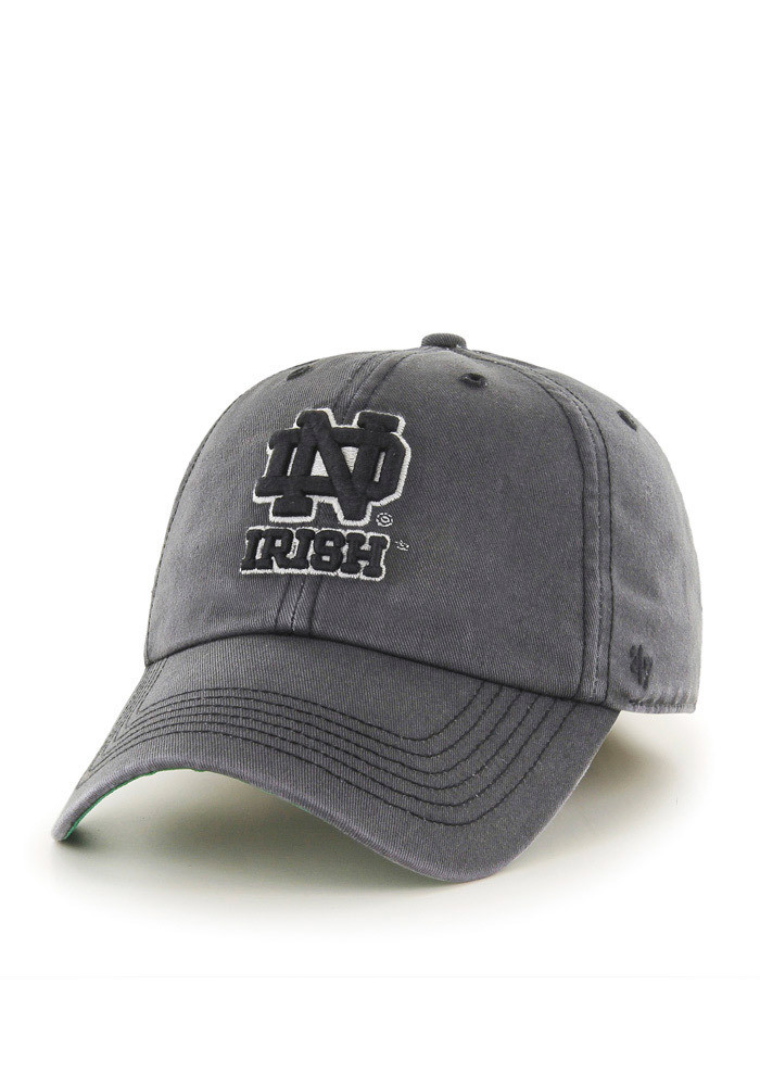 '47 Notre Dame Fighting Irish Mens Grey `47 Franchise Fitted Hat - Image 1
