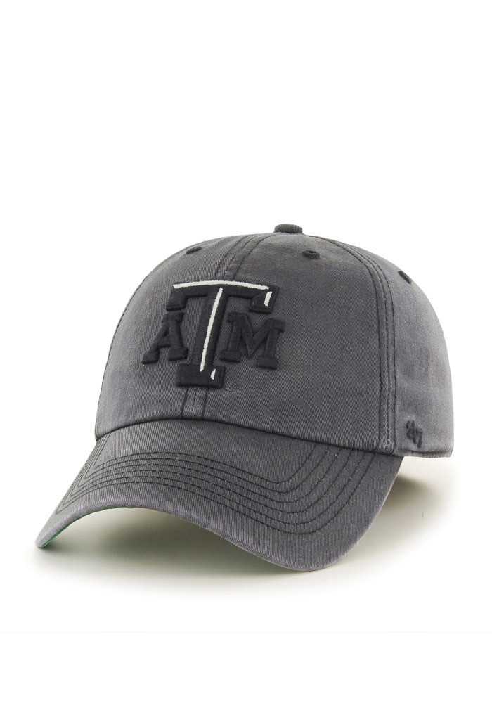 '47 Texas A&M Aggies Mens Grey Sachem `47 Franchise Fitted Hat - Image 1
