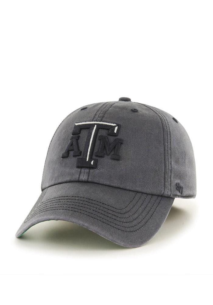 '47 Texas A&M Aggies Mens Grey Sachem `47 Franchise Fitted Hat - Image 2