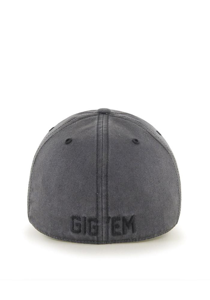'47 Texas A&M Aggies Mens Grey Sachem `47 Franchise Fitted Hat - Image 3