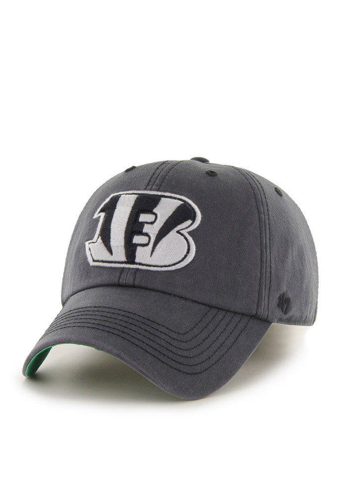 '47 Cincinnati Bengals Mens Grey Sachem `47 Franchise Fitted Hat - Image 1