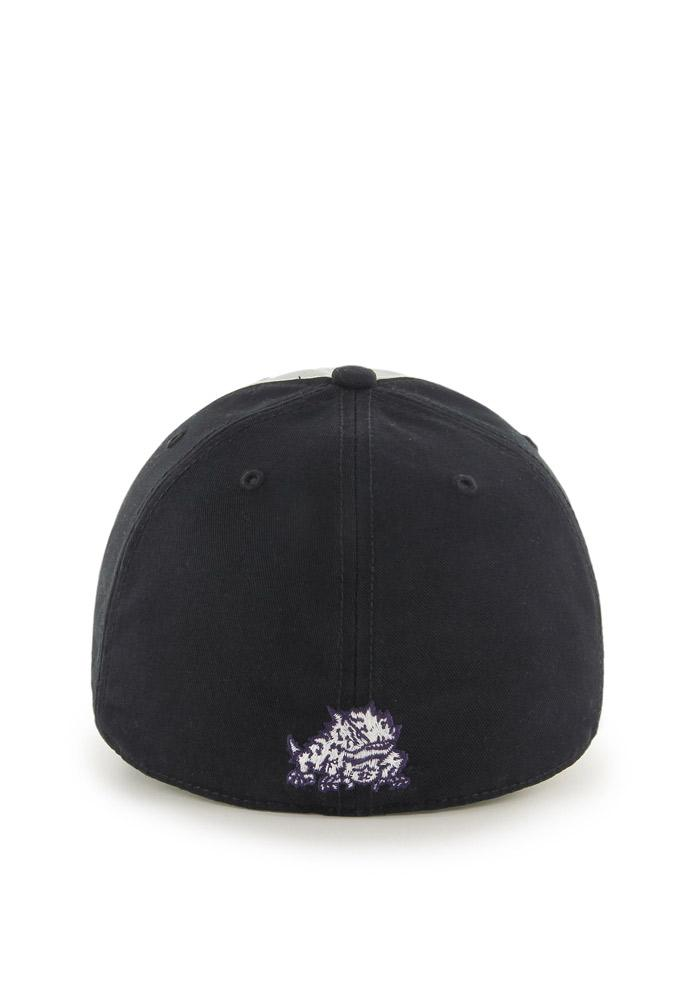 '47 TCU Horned Frogs Mens Black Sophomore Franchise Fitted Hat - Image 2