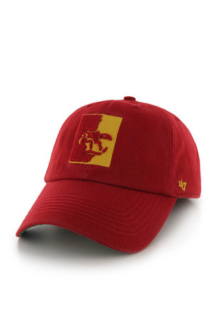 81ee8627238 Pitt State Gorillas  47 Red `47 Franchise Fitted Hat