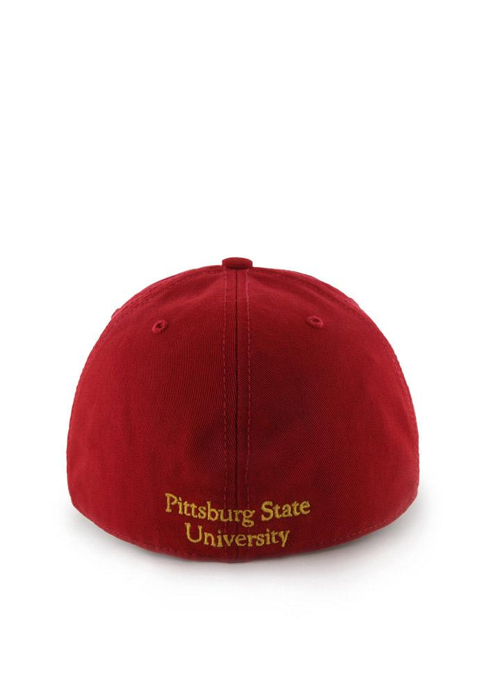 '47 Pitt State Gorillas Mens Red `47 Franchise Fitted Hat - Image 3