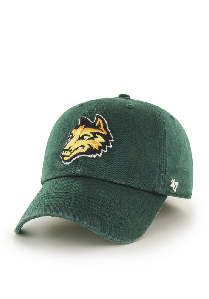 47 Wright State Raiders Mens Green `47 Franchise Fitted Hat - Image 1