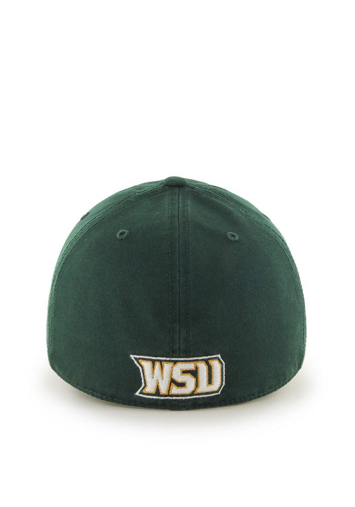 '47 Wright State Raiders Mens Green `47 Franchise Fitted Hat - Image 2