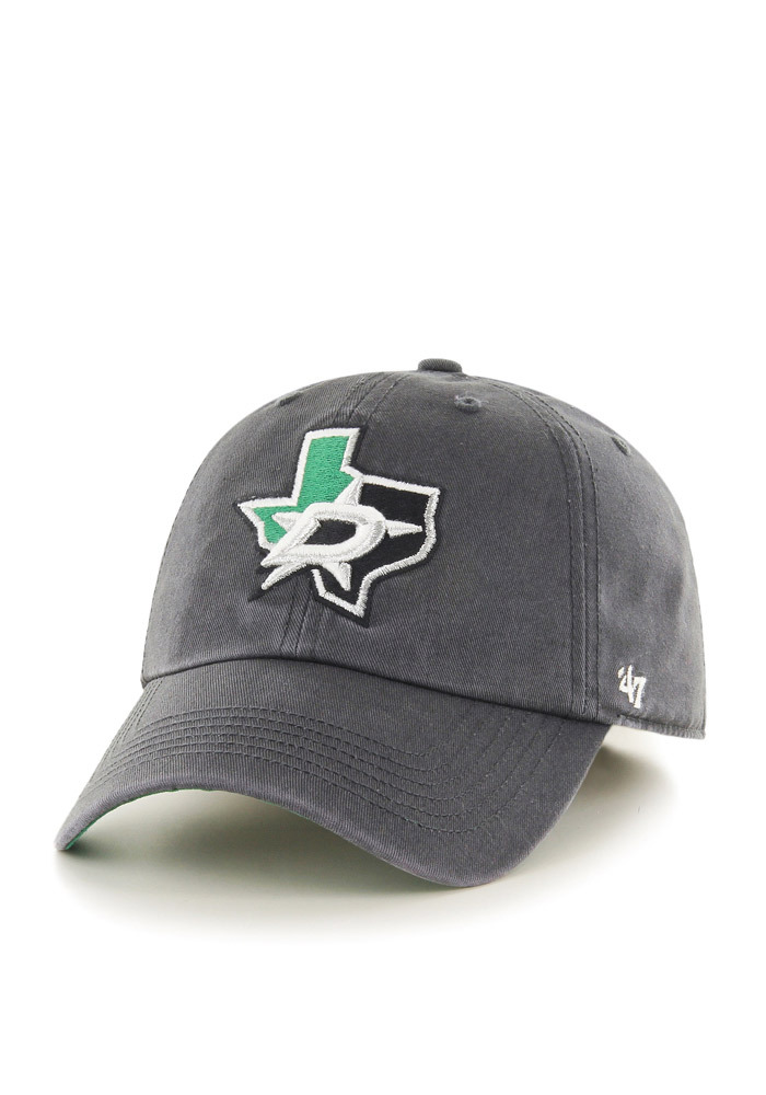 47 Dallas Stars Mens Charcoal `47 Franchise Fitted Hat - Image 1