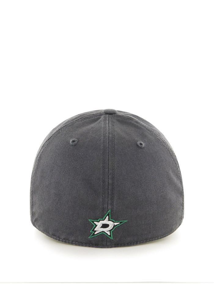 47 Dallas Stars Mens Charcoal `47 Franchise Fitted Hat - Image 2