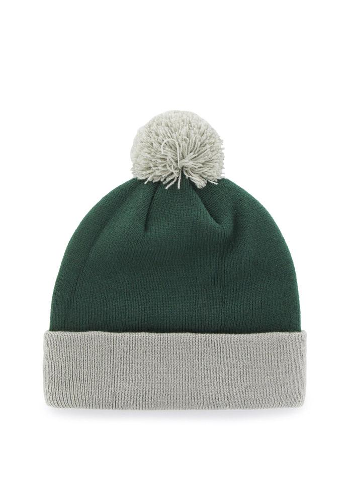 '47 Michigan State Spartans Green Bounder Cuff Mens Knit Hat - Image 2