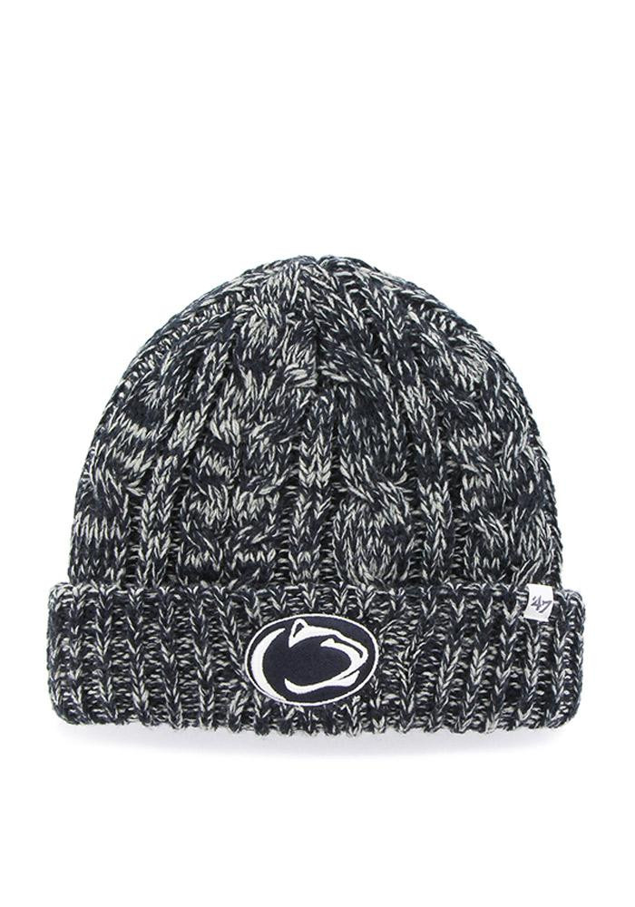 '47 Penn State Nittany Lions Navy Blue Prima Cuff Womens Knit Hat - Image 1