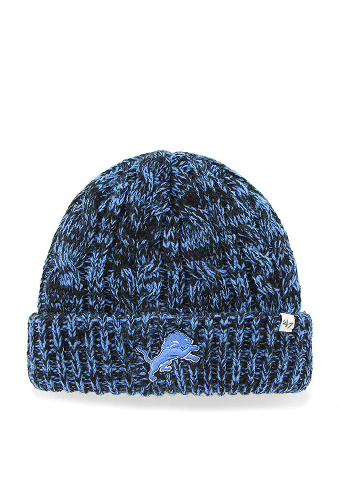 ... discount code for 47 detroit lions womens black prima cuff knit hat  40df5 311a0 ... 4424618fd