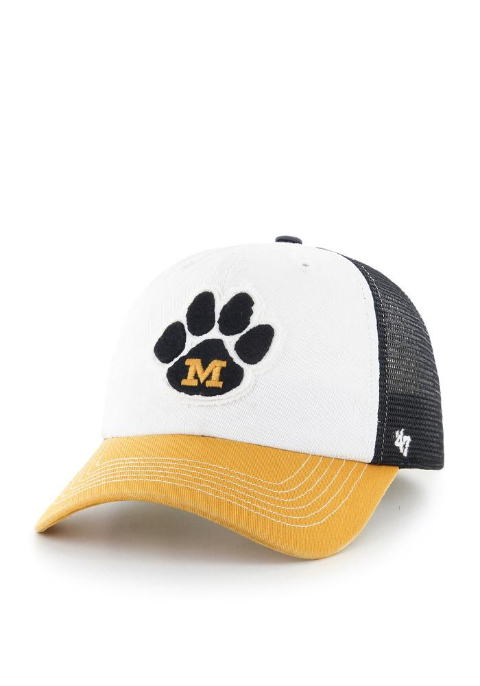'47 Missouri Tigers Mens Black Privateer Flex Hat - Image 1