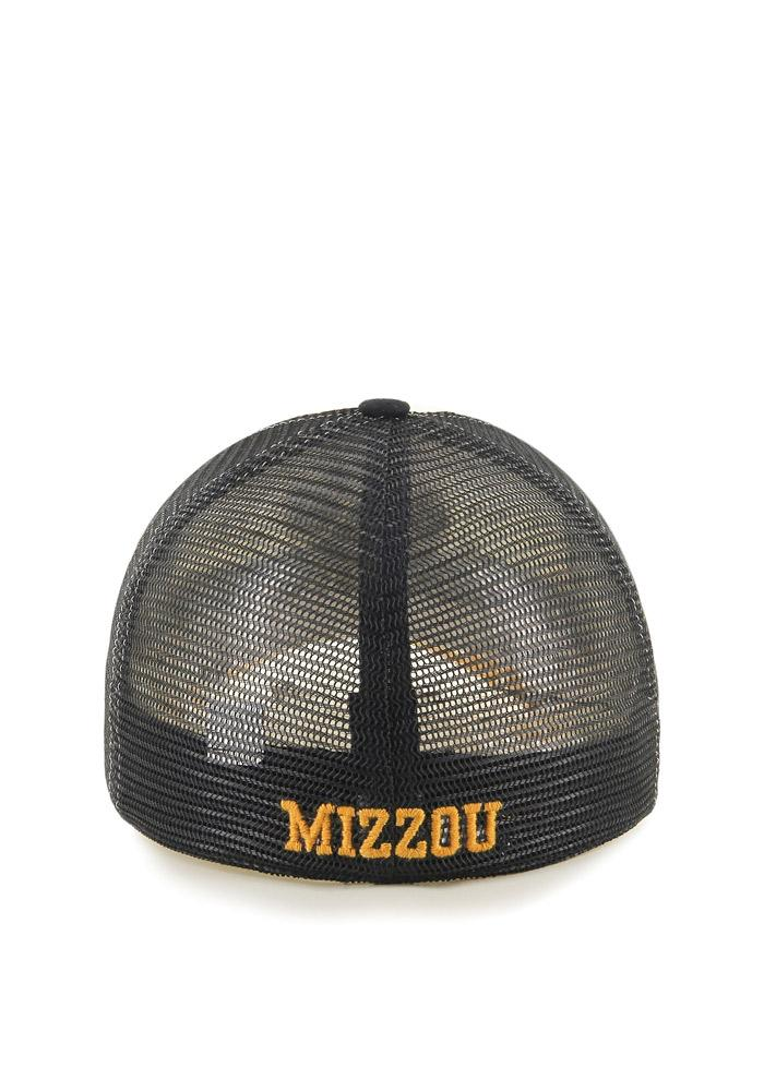 '47 Missouri Tigers Mens Black Privateer Flex Hat - Image 2