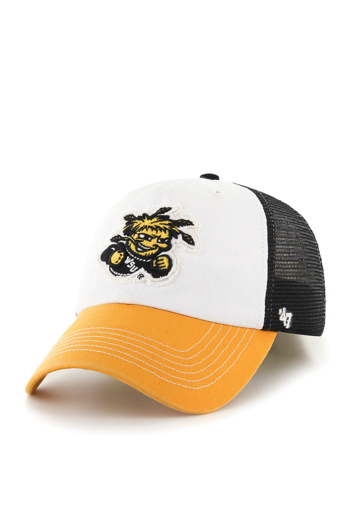 '47 Wichita State Shockers Mens Black Privateer Flex Hat - Image 1