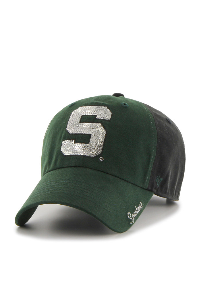 d6d3e76f06e  47 Michigan State Spartans Womens Black Two Tone Sparkle Adjustable Hat