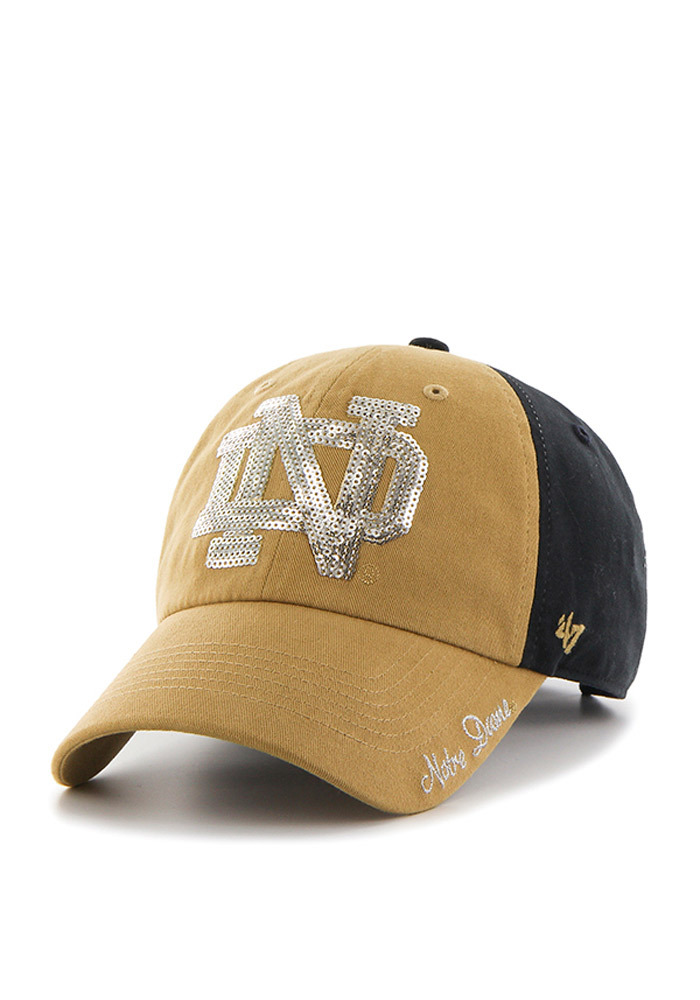 sale retailer 81551 00b5a ... new zealand 47 notre dame fighting irish womens navy blue two tone  sparkle adjustable hat 53087