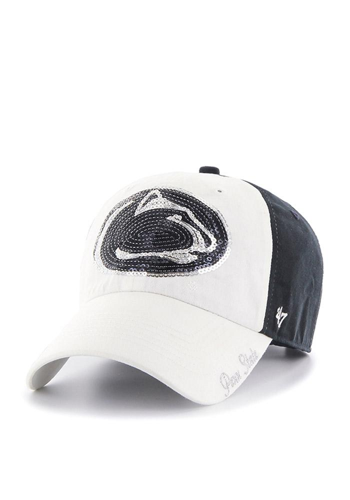 '47 Penn State Nittany Lions Navy Blue Two Tone Sparkle Womens Adjustable Hat - Image 1