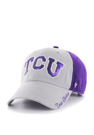 47 TCU Horned Frogs Womens Purple Two Tone Sparkle Adjustable Hat