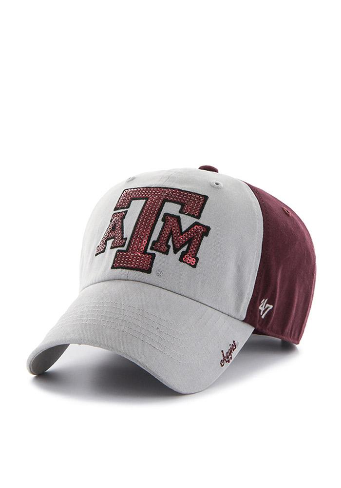 '47 Texas A&M Aggies Maroon Two Tone Sparkle Womens Adjustable Hat - Image 2
