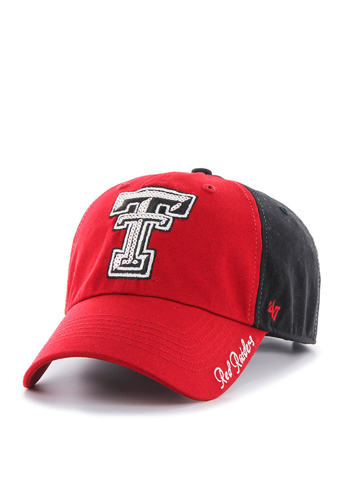 '47 Texas Tech Red Raiders Black Two Tone Sparkle Womens Adjustable Hat - Image 1