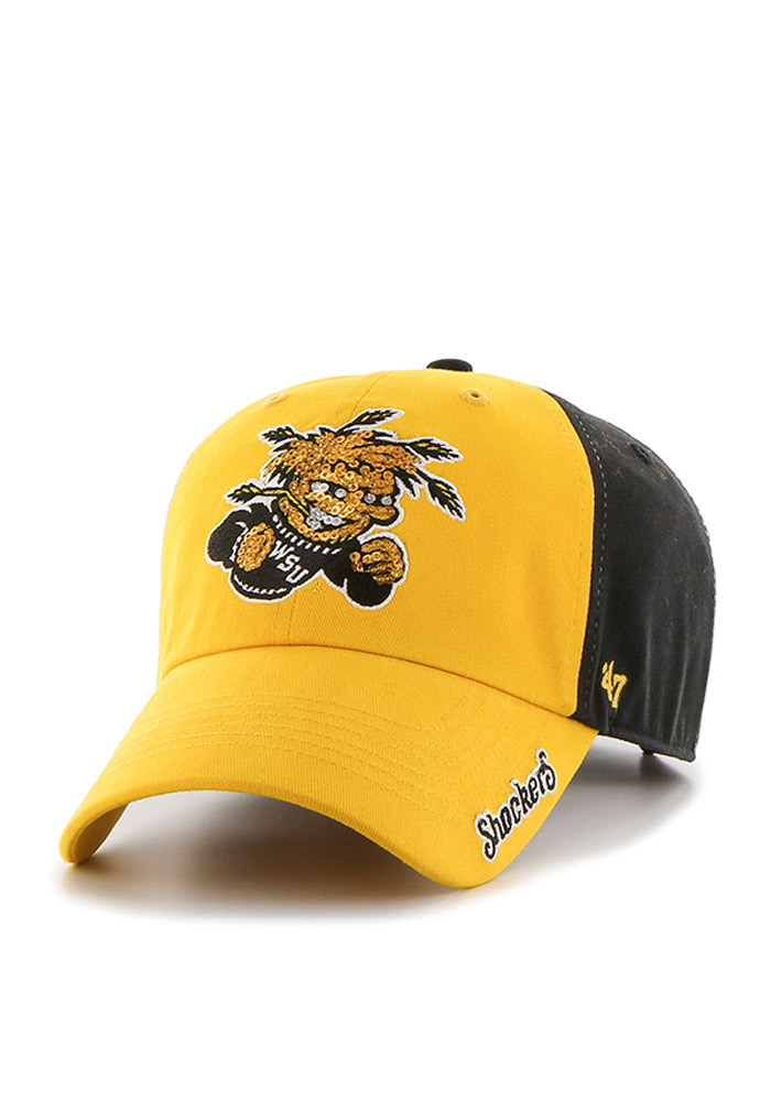 '47 Wichita State Shockers Black Two Tone Sparkle Womens Adjustable Hat - Image 1