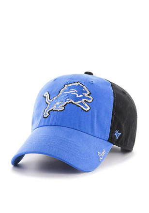 47 Detroit Lions Womens Black Two Tone Sparkle Adjustable Hat 962fe5cb6