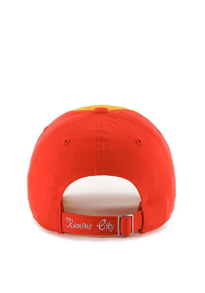 '47 Kansas City Chiefs Red Two Tone Sparkle Womens Adjustable Hat - Image 2